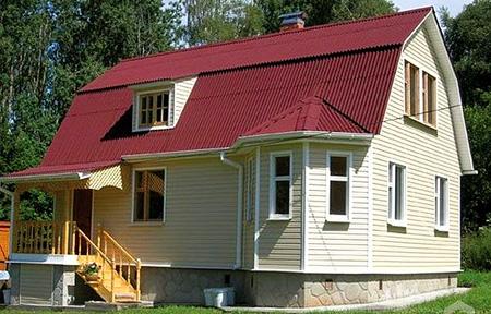крыша дома из волнового шифера
