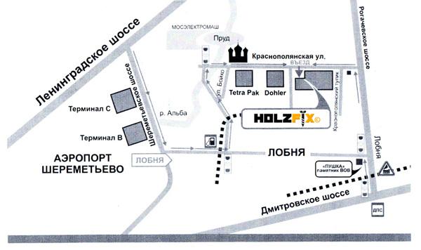 схема проезда HolzFix