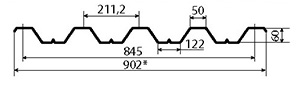 Профнастил H60-845 размеры