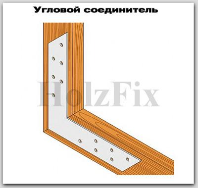 Угловой соединитель для дерева и деревянных конструкций