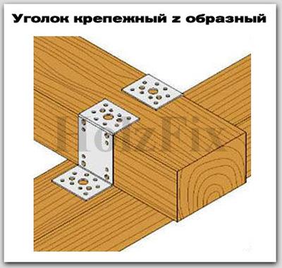 Z образный уголок для дерева и деревянных конструкций